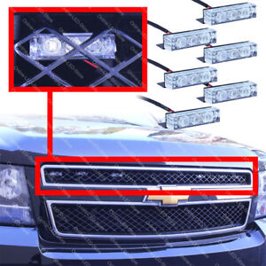 18 Led Emergency Vehicle Strobe Lights For Front Grille Deck White