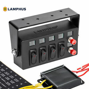Lamphus Swbx42 4 15a On off Rocker Switches 2 Momentary Switch Box
