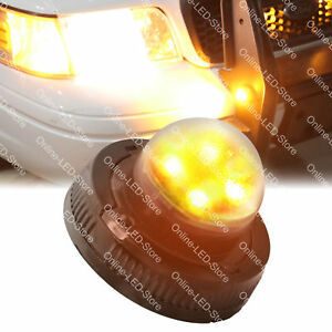 Emergency Construction Truck Vehicle 4w Led Hide away Strobe Warning Light amber