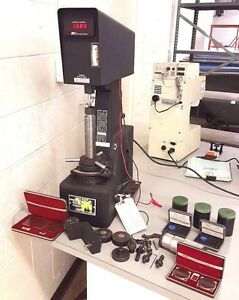 Rockwell Hardness Tester Wilson Digital Metal Testing With Tooling