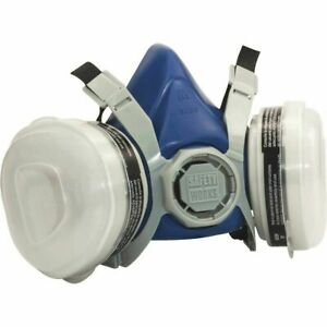 Safety Works Sw00318 Half Mask Standard Size Paint And Pesticide Respirator