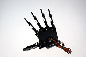 Robot Mechanical Claw Clamper Gripper Arm Left Hand Five Fingers With Servos