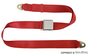 Seat Belt 2 Point Flame Red Porsche 356 911 912 1800 74 Reproduction
