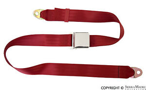 Seat Belt 2 Point Dark Red Porsche 356 911 912 1800 74 Reproduction