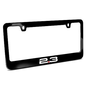 Ford Mustang 2 3l Ecoboost Black Metal License Plate Frame Made In Usa
