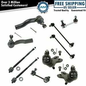 Ball Joint Tie Rod End Sway Bar Link Steering Suspension Kit Set 10pc For Tc New