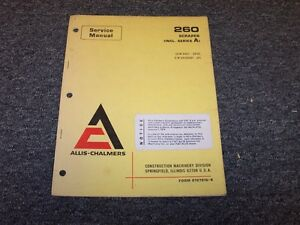 Allis Chalmers 260a Elevating Scraper Original Parts Catalog Manual Guide Book