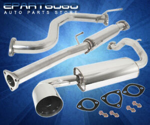 For 88 91 Honda Civic Ef 3dr Hatch Back Jdm Catback Exhaust System W 4 Tip
