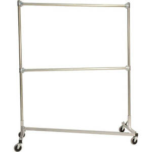 Z rack Laundry Room Clothes Rack 60 L X 72 Uprights Double Rail Silver
