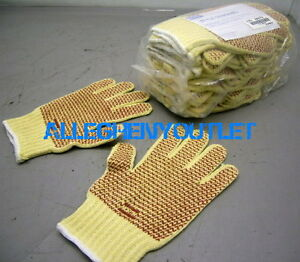 36 Pair Heavy Duty 10 Cut Resistant Work Gloves Two sided Pvc Dot 2xl