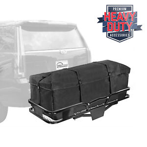 Folding Cargo Carrier 60 X 20 Hauler Hitch And Cargo Bag Combo