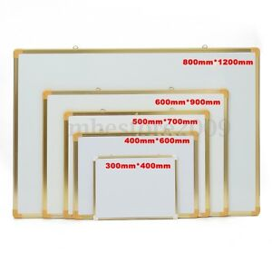 Golden Frame Small Large Dry Erase Magnetic Boards 2 Sides White Board Aluminum