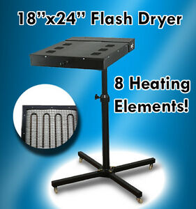 18 X 24 Flash Dryer Silkscreen T shirt Printing Curing Adjustable Height 1