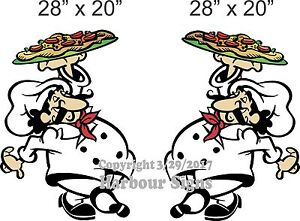 2 Chef Decal 28 Restaurant Concession Pizza Food Truck Vinyl Sticker