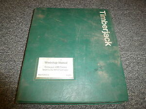 Timberjack 608b Carrier Logging Forestry Shop Service Repair Manual F291014