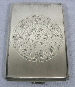 Sterling Silver Hecho Mexico Cigarette Case Box