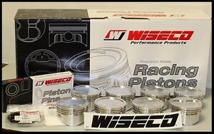 Sbc Chevy 421 Wiseco Forged Pistons Rings 4 155 13cc Dish Top Kp515a3