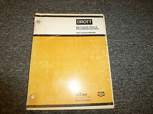 Case Drott 650 Travelift Mobile Gantry Crane Hoist Parts Catalog Manual