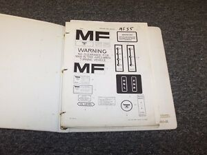 Massey Ferguson Mf 55 Wheel Loader Factory Original Parts Catalog Manual Book