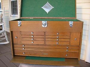 Gerstner Usa Large Oak Machinist Tool Chest Box