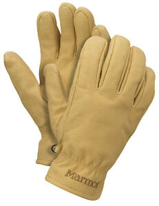 New Marmot Basic Work Men s Glove Driclime 1677 Color Tan Size Medium