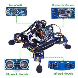 Sunfounder Rollflash Bionic Robot Turtle With App Control For Arduino Nano Hc sr