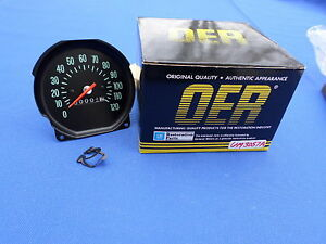 New 1970 Chevelle Ss Monte Carlo 120 Mph Speedometer Oer 6493057a Gm Licensed