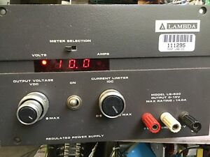 Lambda Dc Power Supply Lq 530 0 10v 0 14a