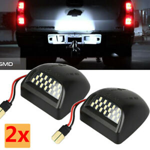 Rear License Plate Led Light Fit Chevrolet Silverado Gmc Sierra 1500 2500 99 14