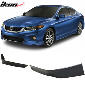 Fits 13 15 Honda Accord Coupe 2dr Hfp Style 2 Piece Front Lip Underbody Spoilers