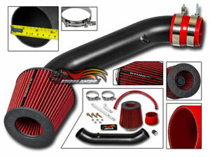 Matte Black Ram Air Intake Kit Red Filter For 94 01 Acura Integra Rs Ls Gs Se