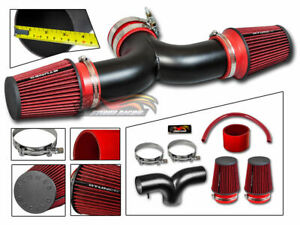 Matte Air Induction Intake Dual Filter For Chevrolet 01 04 Corvette 5 7l V8