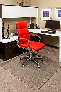 Clearly Innovative Glass Chair Mats For Home Or Office W Beveled Edge 40 X 60