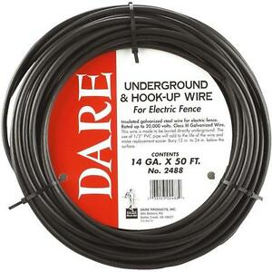 5 Pk Dare 14 Ga X 50 Underground Hook up Charger To Electric Fence Wire 2488