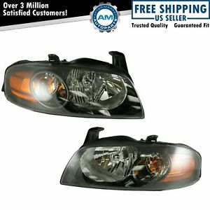Headlights Headlamps Lamp Pair Set New For 04 06 Nissan Sentra Se R Spec V