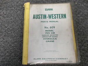 Austin Western 765 Cm Carrier Mounted Swing Hydraulic Crane Parts Catalog Manual