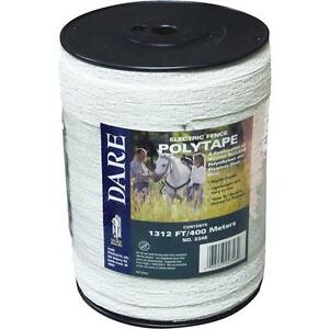 6 Pk Dare 1 2 X 1312 Electric Fence 5 Steel Strand Poly Tape 2346