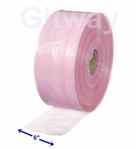 6 X 1075 Anti Static Poly Tubing Tube Plastic Bag Custom Bags On A Roll 4ml