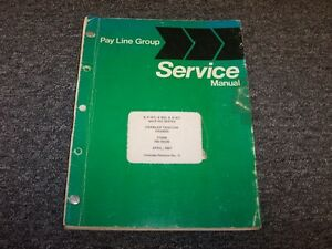 International Harvester Ih T9 Td9 9 Series Crawler Chassis Service Repair Manual