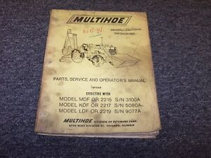 Pettibone 2215 2217 2219 Multihoe Backhoe Loader Tractor Parts Catalog Manual