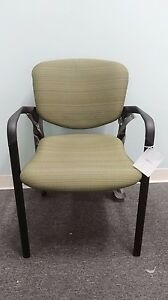 Haworth Improv Seating Stacking Guest Conference Office Guest Chairs New Green