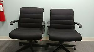 Knoll Ergonomic Task Chair In Black Fabric With Fixed Arms Great Condition