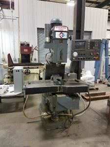 Used Clausing Kondia Fv 1 Cnc Knee Mill 3 axis Dynapath 10 Power Drawbar Clean