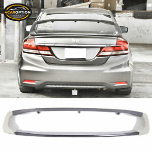 Fit 12 15 Honda Civic 4dr Mug Trunk Spoiler Carbon Fiber Top Piece 4pc Cf
