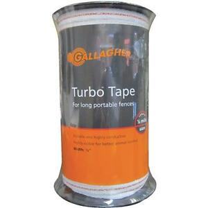 Gallagher White 1 2 X 656 Electric Fence 5 Strand Wire Turbo Tape G623544