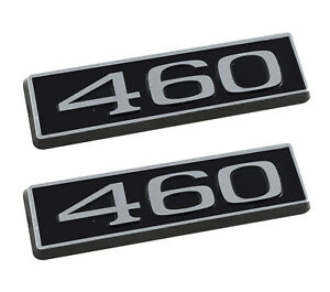 460 Ford Mustang 3 25 Engine Hood Scoop Emblems Badges Pair Black