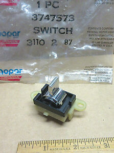 Mopar Power Window Switch 1974 1988 Plymouth Dodge Chrysler 3747573 Nos