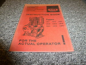 Hatz E85fl E89g E89fg E89fl Diesel Air Cooled Engine Owner Operator Manual Book
