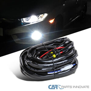Fog Light Hid Led Heavy Duty Wiring Harness 12 Gauge Kit W Switch Relay Fuse
