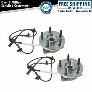 Front Wheel Hubs Bearings Pair For Ranger Mazda Truck 4wd 4x4 W Abs